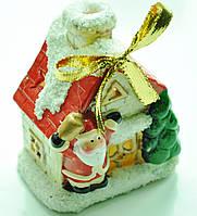 Керамический домик-подсвечник  №242