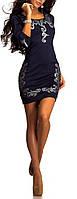 """ХИТ 2014! Короткое платье темно-синего цвета """"Глиттер"""" ."""