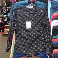 Рубашка мужская на заклёпках - Турция - модель 0156 (черная)