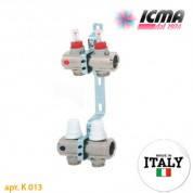 Коллектор системы *ТЕПЛЫЙ ПОЛ* ICMA арт. K013 с расходомерами 2 выхода