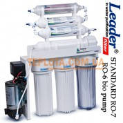 Система обратного осмоса  Leader RO-7 (6 bio) pump (фильтр для воды Лидер с минерализатором, биокерамическим структуризатором и насосом)