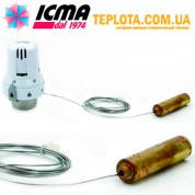 ICMA арт. 995 Термостатическая головка ИКМА с выносным датчиком (рекомендуется для систем ТЕПЛЫЙ ПОЛ)