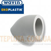 WAVIN EKOPLASTIK Уголок (колено) 45 гр. диаметром 20 мм