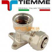 Резьбовой фитинг Tiemme угол (колено) для настенного крепления с ВР д.16х2-1)2* мм