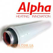 Коаксиальный  удлинитель ALPHA длиной 1000 мм, диаметр 60-100, для газовых котлов Alpha и Immergas