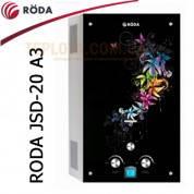 Газовая колонка RODA JSD20-A3 (стекло - картинка *Цветы*, 10л в мин., автомат)