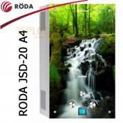 Газовая колонка RODA JSD20-A4 (стекло - картинка *Водопад*, 10л в мин., автомат)