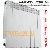Радиатор биметаллический Heat Line Extreme 500-96  биметалл, глубина 96мм, вес 1,6 кг