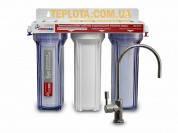 Фильтр для воды Новая Вода NW-F300 (3 ступени, подмоечный, кран Hi-Tech)