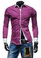 Мужская фиолетовая рубашка ,чоловіча фіолетова сорочка