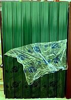 Профнастил ПС-10,  зеленый 1,75х0,95м заборный, стеновой.