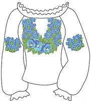 Заготовка жіночої сорочки вишиванки