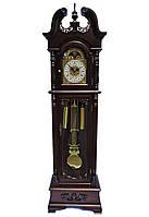Напольные часы механические с боем-темный орех