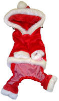 MonkeyDaze Санта (Santa) комбинезончик с капюшоном, одежда для собак