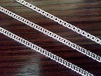 Серебряная цепочка женская - плетение Двойной Ромбо