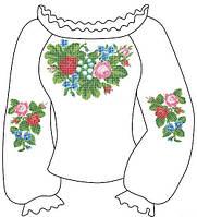 Заготовка женской сорочки под бисер или нитки 016