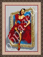 Схема для вышивки бисером Девушка из картины