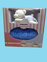 Детский бамбуковый пледик в комплекте с игрушкой