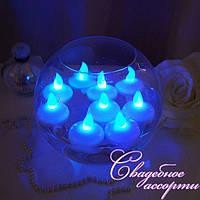 Плавающие светодиодные свечи синие, электронные свечи