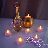 Светодиодные свечи, электронные свечи жёлтые