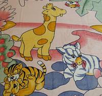 Микрофибровая простынь, покрывало Elway детское На лужайке ( розовый )