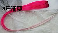 Новинка! Эксклюзивная цветная прядь градиент на заколке-клипсе, цвет №3