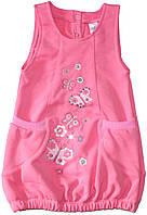 Нарядный розовый сарафан для девочки, рост 80/86 см, ТМ Фламинго