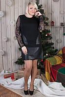 Женское платье-туника с гипюром №550
