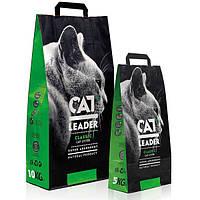 Кэт Лидер (CAT LEADER) супер-впитывающий наполнитель в кошачий туалет, 10 кг
