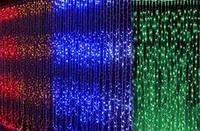 Светодиодная гирлянда Водопад (штора) 500 LED 3 х 2 метра разноцветная