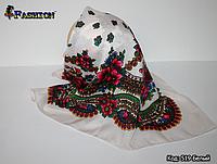 Біла маленька хустка в українському стилі Стефанія