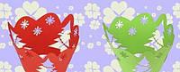 """Накладки для маффинов """"Ажурные ленты""""№153 6шт(цвет в ассорт.)(код 03258)"""