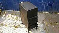 Печка буржуйка из металла 3 - 4 мм для отопления помещений до 35 м2 и приготовления/разогрева пищи