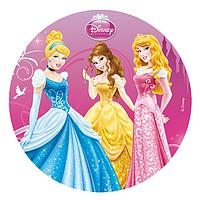 """Вафельные картинки """"Принцесы круглая"""" А4 (код 01262)"""