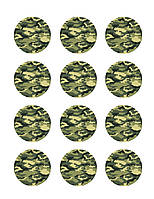 "Картинки для кап-кейков""Милитари "" А4 (код 01262)"