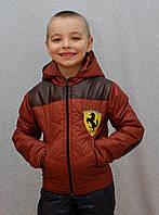 Курточка на мальчика демисезонная терракот, фото 1