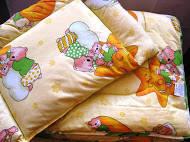 "Набор детский ""Медвежонок Соня""одеяло и подушечка ТМ ""Міцний сон"" Украина (Львов)"