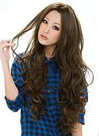 Стильный женский модный парик, длинные волнистые волосы, парик из искусственных волос, цвет- светло-коричневый