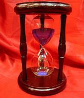 Часы песочные в дереве (16.5х11х11 см(143)