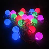 Светодиодная гирлянда Ball, 8 м, 20 LED, мультицвет, ПВХ