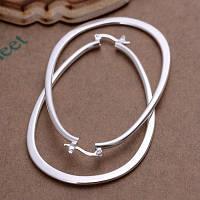 Серьги крупные кольца Tiffany Покрытие серебром 925