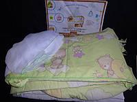Постельный комплект в детскую кроватку 6 предметов
