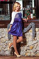 Нарядное праздничное платье юбка клеш