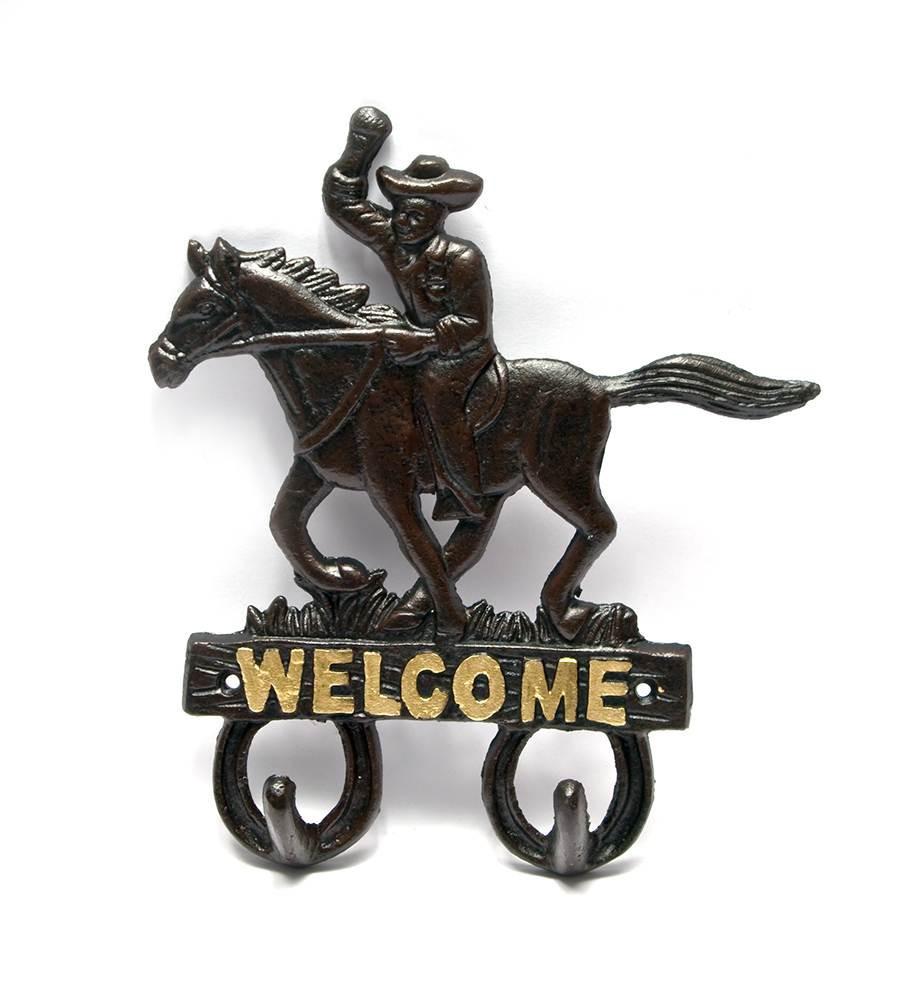 Вешалка из металла для одежды Welcome чугунная