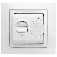 Термостат «теплый пол», диапазон температур +5…+40°с, выносной термодатчик, монтируется в розеточную коробку