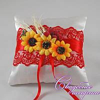 Свадебная подушечка в украинском стиле