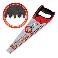 Ножовка по дереву 400 мм с тефлоновым покрытием каленый зуб 3-ая заточка Intertool HT-3107