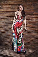 Стильный красочный женский сарафан