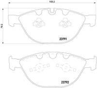 Тормозные колодки BMW 5 E60 E61 (TEXTAR)