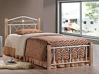 Кровать Миранда М односпальная крем (90х200)